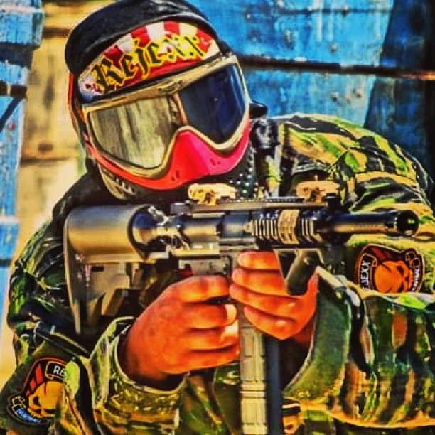 high impact paintball player